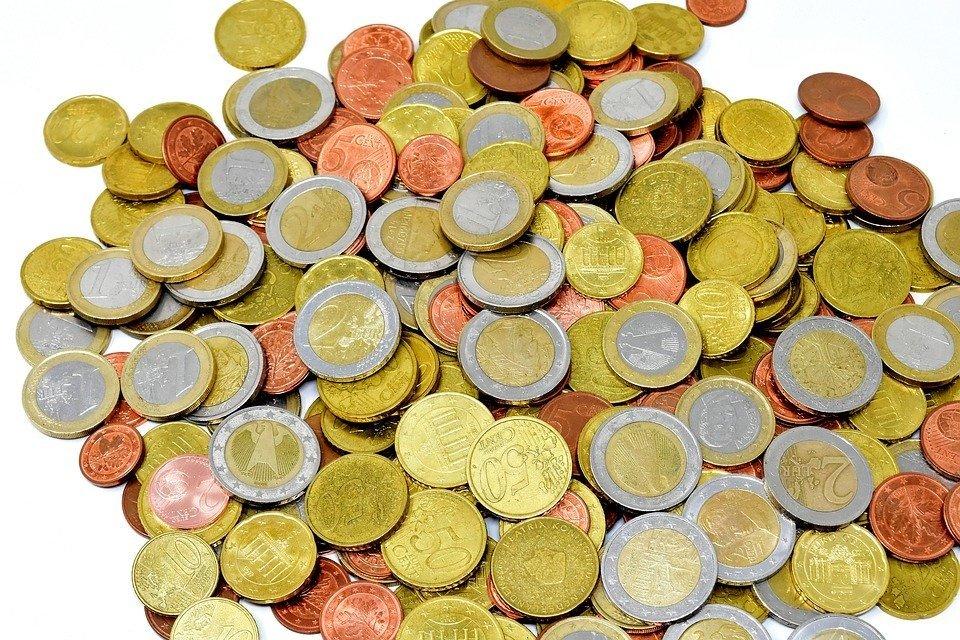 Monete, Denaro, Valuta, Euro, Specie, Loose Change, Oro